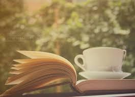 tean and a book
